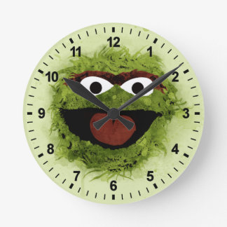 Oscar the Grouch   Watercolor Trend Round Clock