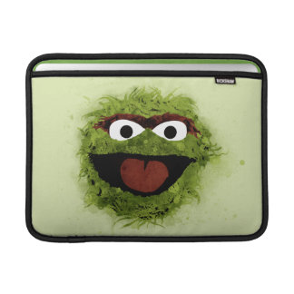 Oscar the Grouch   Watercolor Trend Sleeve For MacBook Air