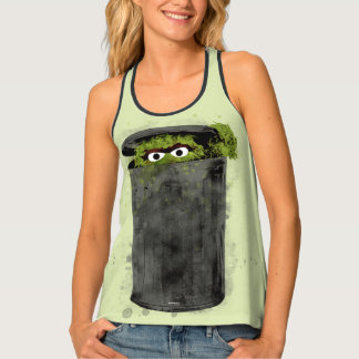 Oscar the Grouch | Watercolor Trend Tank Top