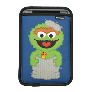 Oscar the Grouch Wool Style iPad Mini Sleeve