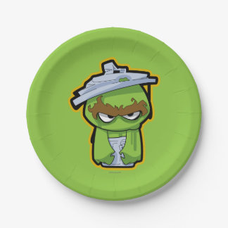 Oscar the Grouch Zombie Paper Plate