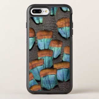 Oscillated Turkey feather pattern OtterBox Symmetry iPhone 8 Plus/7 Plus Case