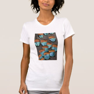 Oscillated Turkey feather pattern T-Shirt