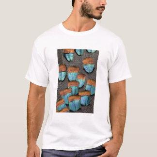 Oscillated Turkey feather pattern T-Shirt