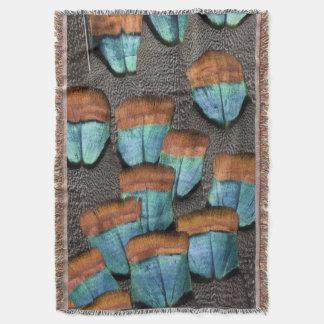 Oscillated Turkey feather pattern Throw Blanket