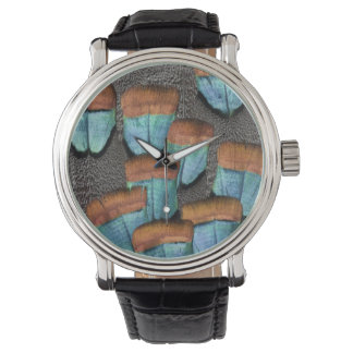 Oscillated Turkey feather pattern Watch