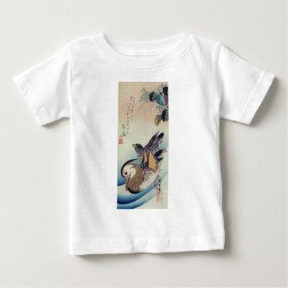 Oshidori Mandarin Ducks by Ando Hiroshige c. 1830 Baby T-Shirt