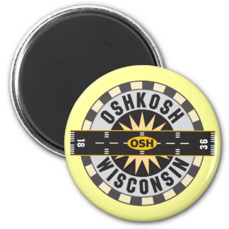 Oshkosh, WI OSH  Airport Magnet