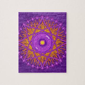 osholo Purple mandala Jigsaw Puzzle