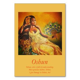 Oshun Table Card