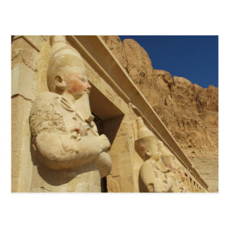 Osirian statues of Hatshepsut at her tomb Postcard