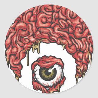 Osiris Brains Icon Classic Round Sticker