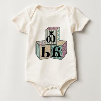 Osiyo - Cherokee Greeting Blocks Baby Bodysuit