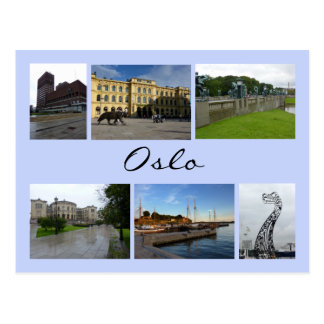 Oslo Collage 2 Postcard