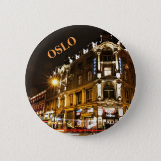 Oslo, Norway at night 2 Inch Round Button
