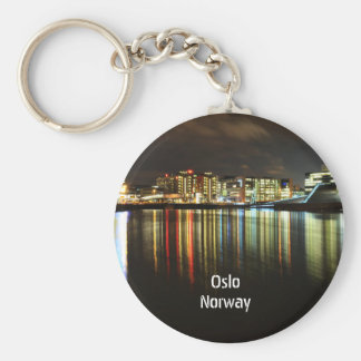Oslo, Norway at night Keychain