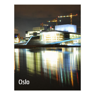 Oslo, Norway at night Letterhead