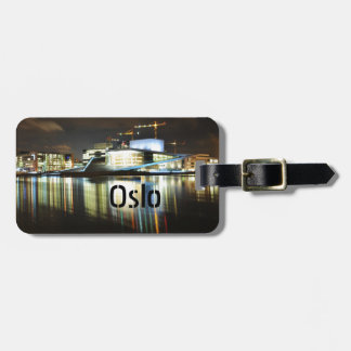 Oslo, Norway at night Luggage Tag