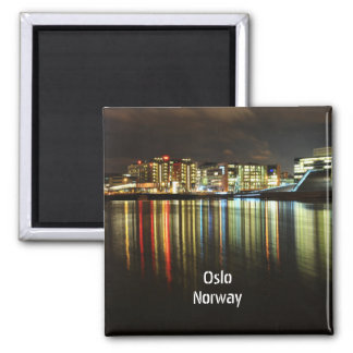 Oslo, Norway at night Magnet