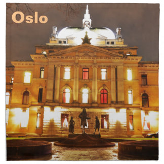 Oslo, Norway at night Napkin