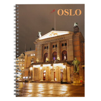 Oslo, Norway at night Notebook