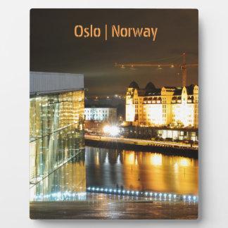 Oslo, Norway at night Plaque
