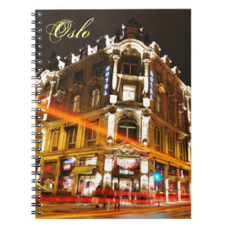 Oslo, Norway at night Spiral Notebook