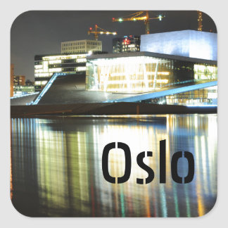 Oslo, Norway at night Square Sticker