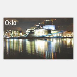 Oslo, Norway at night Sticker