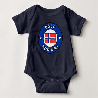 Oslo Norway Baby Bodysuit