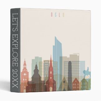 Oslo, Norway | City Skyline 3 Ring Binders