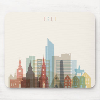Oslo, Norway | City Skyline Mouse Pad