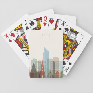 Oslo, Norway | City Skyline Playing Cards