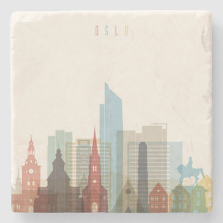 Oslo, Norway | City Skyline Stone Coaster