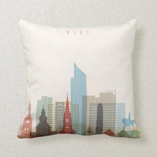 Oslo, Norway | City Skyline Throw Pillow