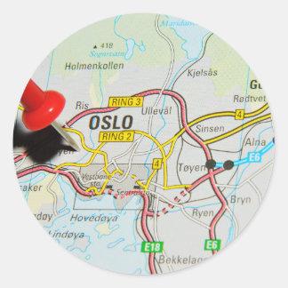 Oslo, Norway Classic Round Sticker