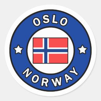 Oslo Norway Classic Round Sticker