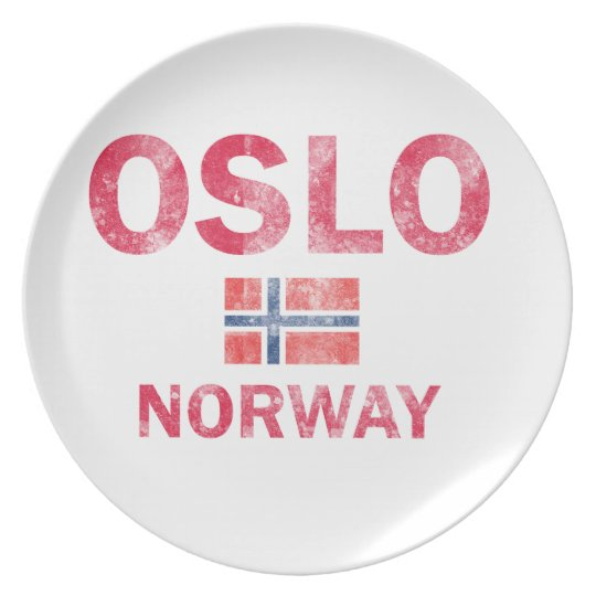 Oslo Norway Designs Plate