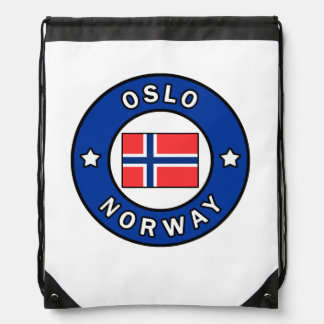 Oslo Norway Drawstring Bag