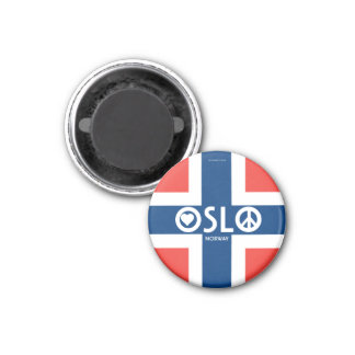 Oslo Norway Love Peace Magnet 3