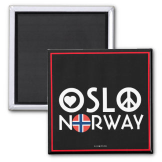 Oslo Norway Love Peace Magnet 4