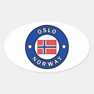 Oslo Norway Oval Sticker