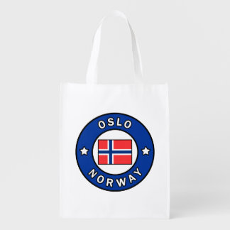 Oslo Norway Reusable Grocery Bag