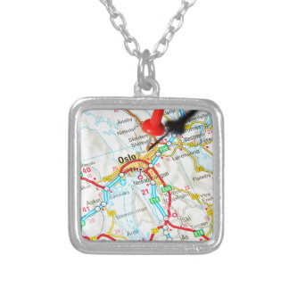 Oslo, Norway, Scandinavia Silver Plated Necklace