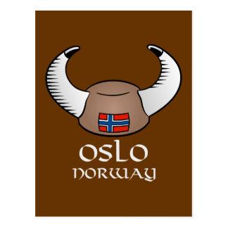 Oslo Norway Viking Hat Postcard