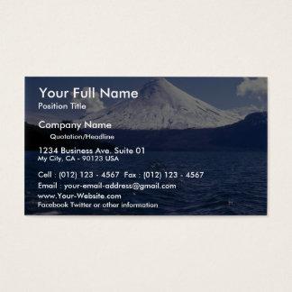 Osorno volcano and Todo Los Santos lake, Chile Business Card