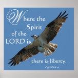 Osprey Bird Spirit of the LORD Print