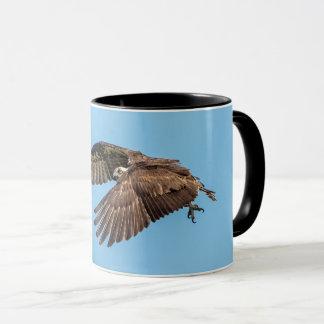 Osprey in flight at Honeymoon Island State Park Mug