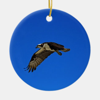 Osprey in Flight II Ceramic Ornament