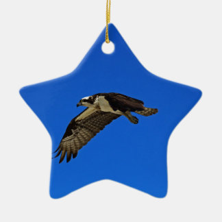 Osprey in Flight II Ceramic Star Ornament